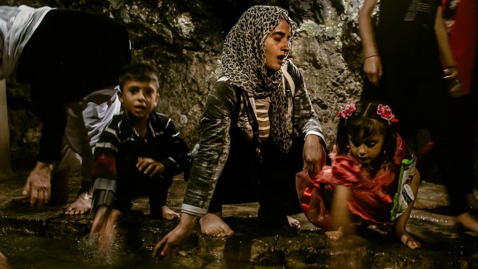 Yazidi rebaptism ceremony in Iraq