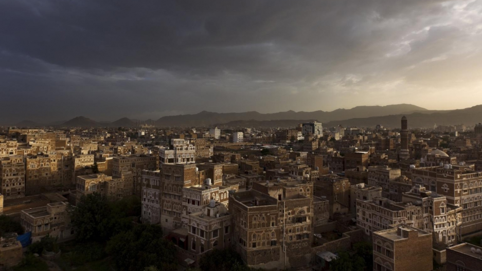 A shot of an ancient neighborhood in Sanaa, the capital of Yemen, taken long before Saudi Arabia's invasion.