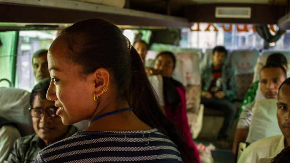 Nepal bus inspection for suspected trafficking victims