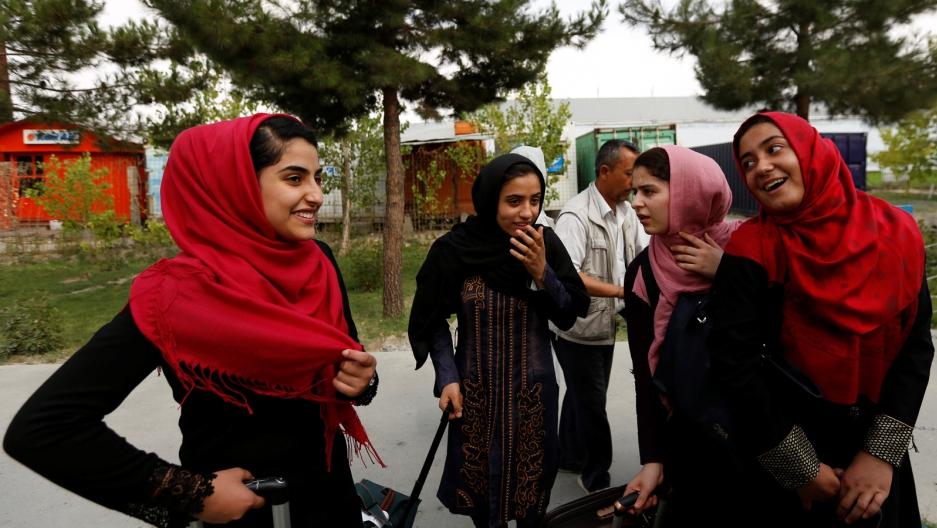 Afghan girls robotics team allowed in U.S. after Trump intervention