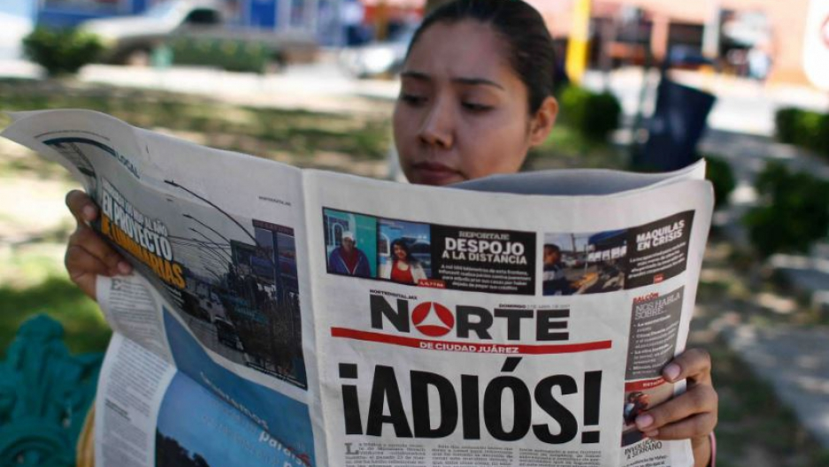 Norte de Ciudad Juarez closes down due to ongoing violence against its Mexican journalists.