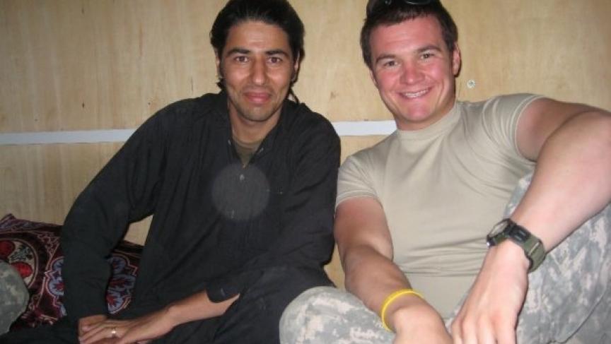 Matt Zeller and Janis Shinwari in Afghanistan