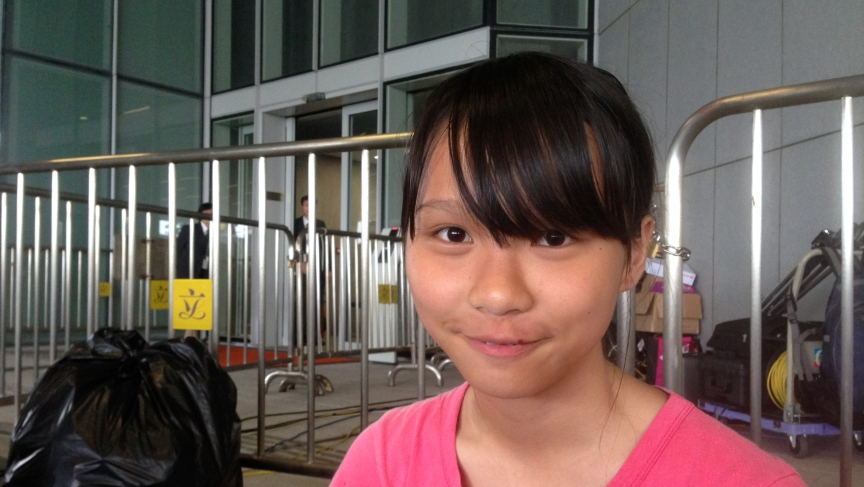 Agnes Chow, 17, started going to protests in high school. She's been a fixture at Hong Kong demonstrations over nearly two weeks of pro-democracy protests.