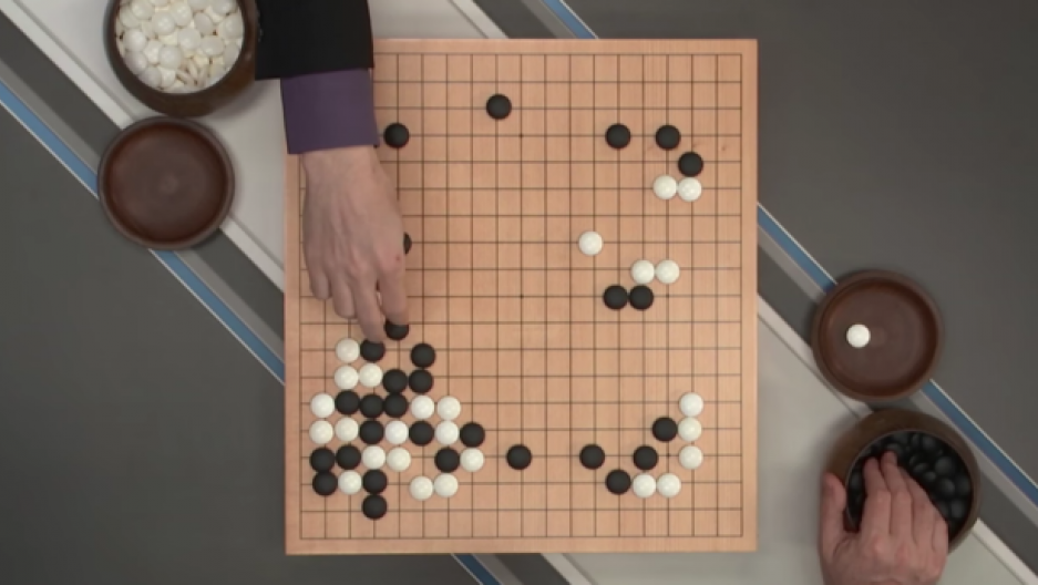 AlphaGo on the move in the Google DeepMind challenge, Seoul, South Korea.