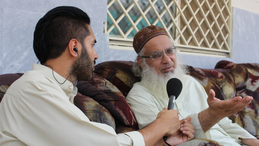 The BBC's Mobeen Azhar speaks to Imam Ghazi, leader of the Red Mosque