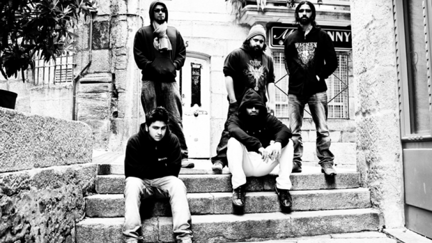 Members of Bangalore metal band Eccentric Pendulum.