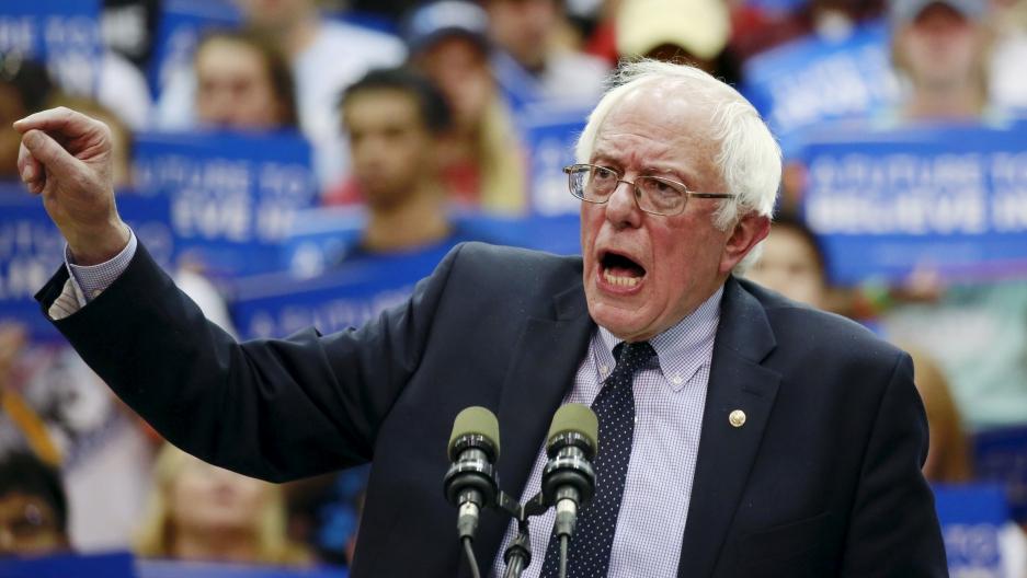 US presidential candidate Bernie Sanders