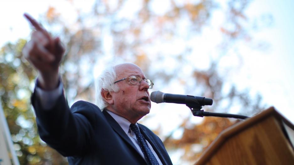 Former Democratic presidential candidate Senator Bernie Sanders