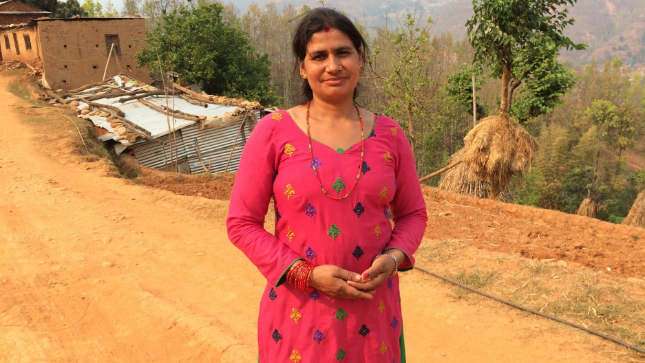 Bimala Parajuli is a volunteer community health worker in a remote mountain village in Nepal. Her home was destroyed in last year's earthquake.