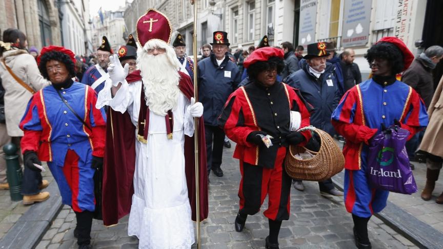 Black Pete at a Dutch Christmas celebration
