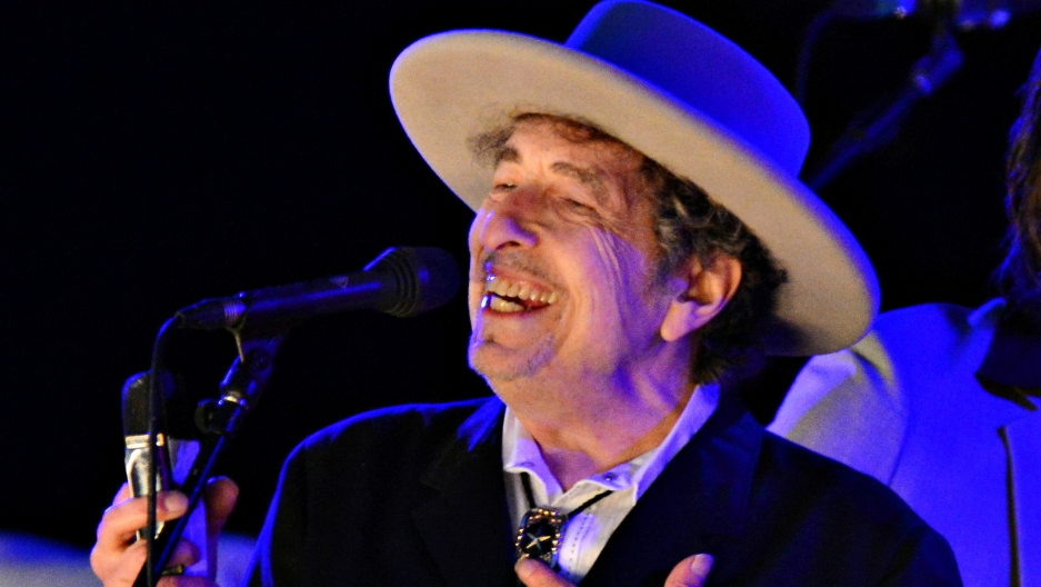 Bob Dylan performs at The Hop Festival in Paddock Wood, Kent, on June 30, 2012.