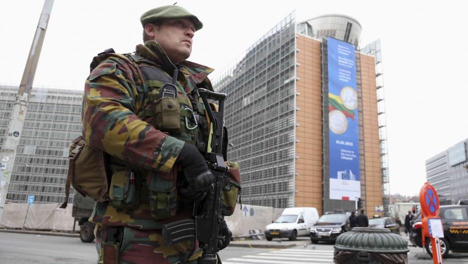 A Belgian soldier