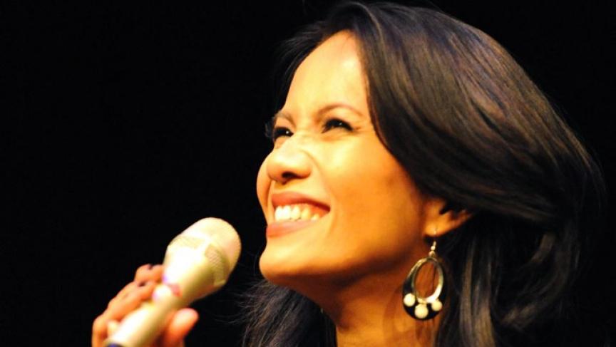 Filipino-American jazz singer Charmaine Clamor.