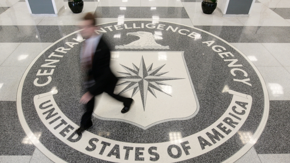 The lobby of the CIA Headquarters Building in McLean, Virginia, August 14, 2008.
