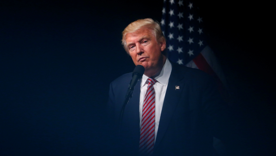 Republican US Presidential nominee Donald Trump