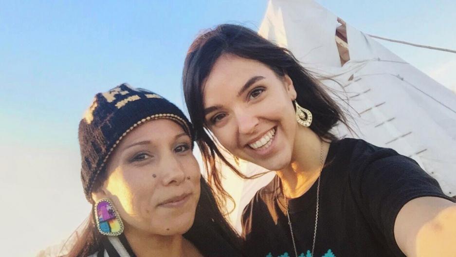 Erin Schrode at Standing Rock.