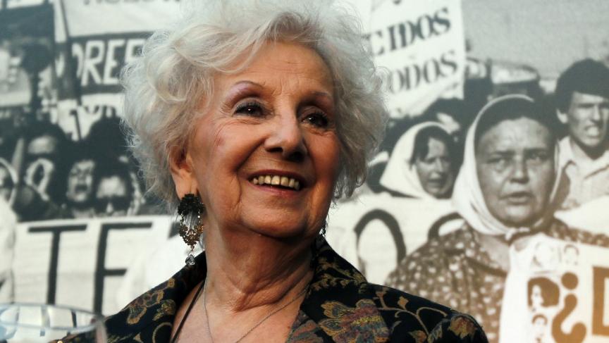 Estela de Carlotto, president of human rights organization Abuelas de Plaza de Mayo (Grandmothers of Plaza de Mayo)