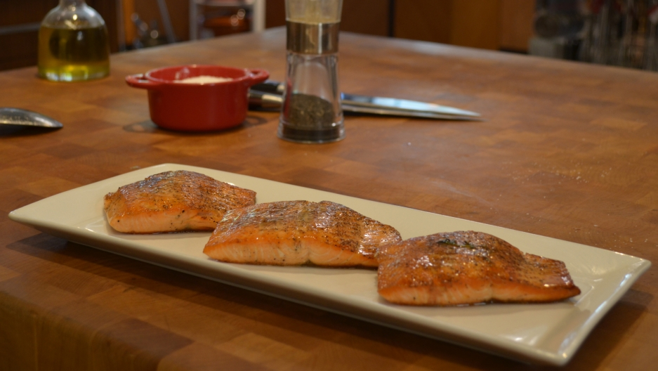 You won't find a lot of wild salmon on menus or in your supermarket anymore, but the Namgis First Nation's group in British Columbia hopes you'll find their tank-farmed Kuterra salmon the next best thing.