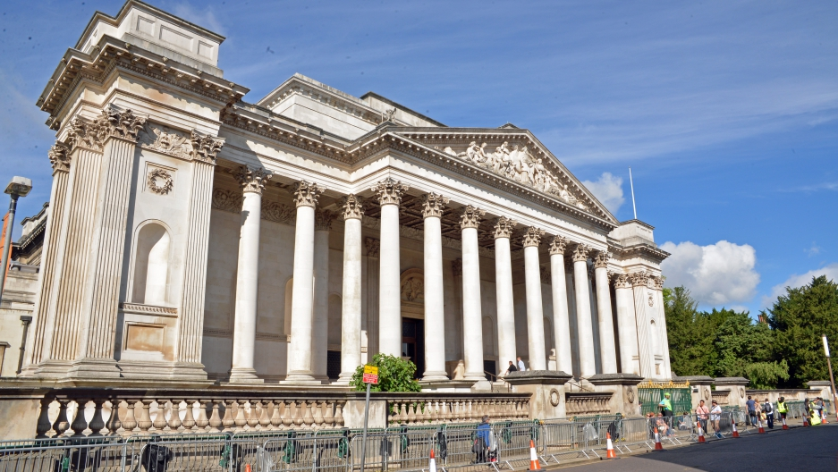 The Fitzwilliam Museum in Cambridge, UK was one of the museums targetted for attack