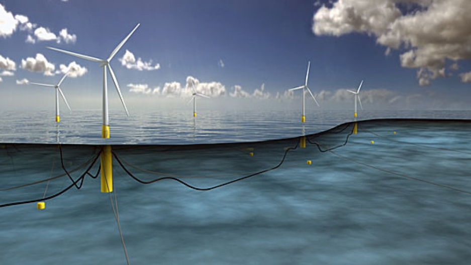 Norwegian company Statoil plans to build the first floating wind farm off the Scottish coast.