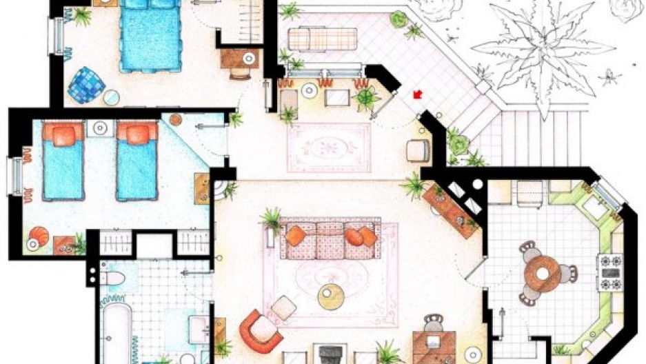 Floor Plans For Your Favorite Sitcom Homes Public Radio International