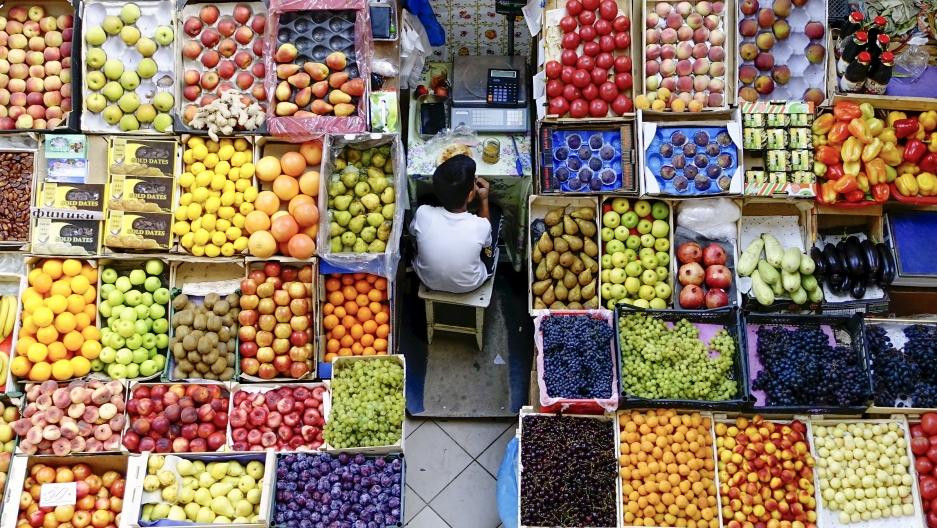 A market in Russia