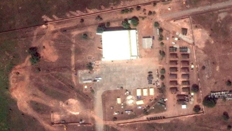 A satellite image of the U.S. drone base in Garoua, Cameroon.