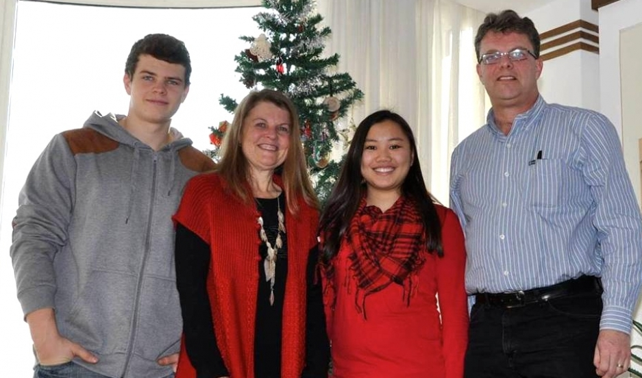 Kevin and Julia Garratt shown with two of their three children, Peter and Hannah.