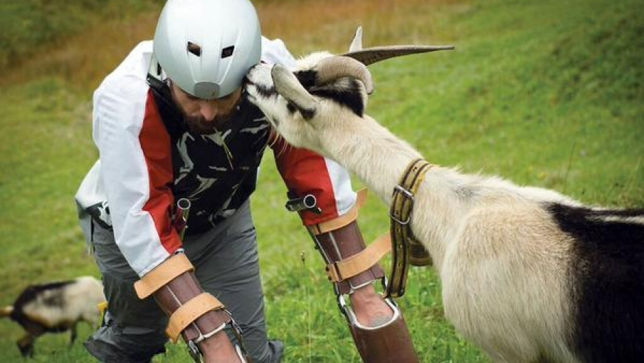 Thomas Thwaites spend six days in the Swiss Alps to experience what it's like to live life as a goat.