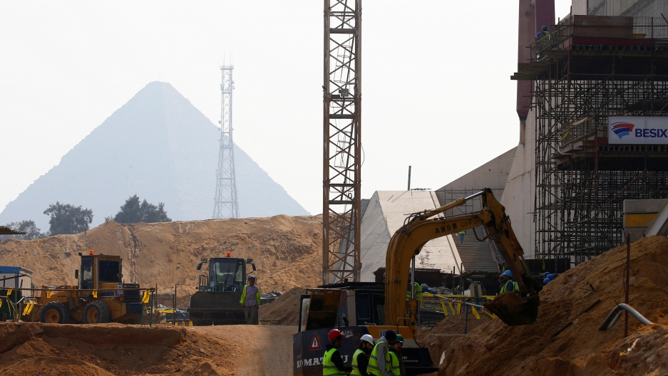 The site of Grand Egyptian Museum