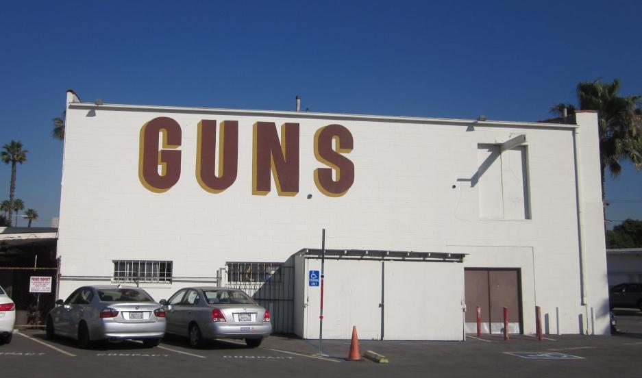 A gun store in Los Angeles, California.