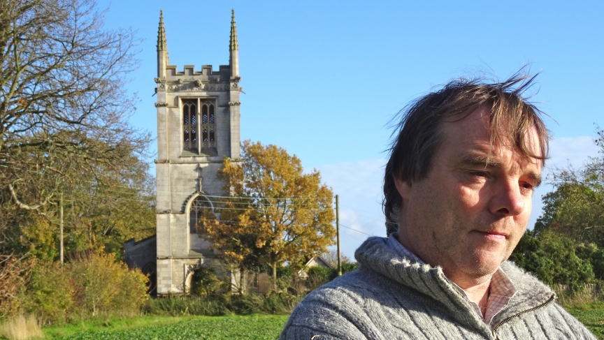 Tim Hankins helps maintain All Saints Church in Aldwincle, England. Poet John Dryden was born in Aldwincle and baptized in the church.