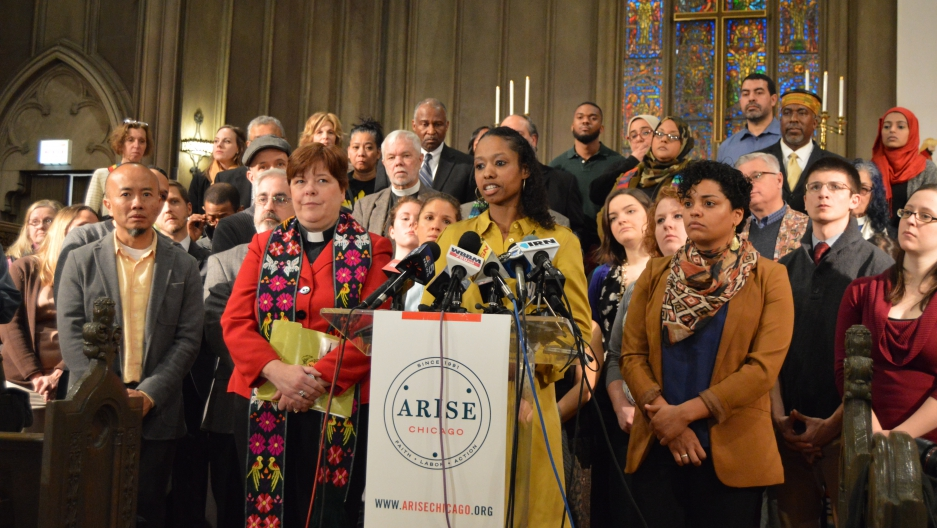 "Prof. Larycia Hawkins told a news conference on January 6, ""Wheaton College cannot scare me into walking away from the truth that all humans, Muslims, the vulnerable, the oppressed, are all my sisters and brothers."""