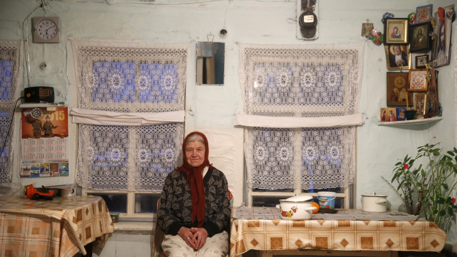 Woman in her home