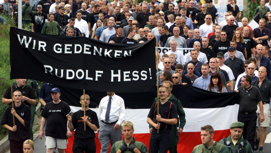Rudolf Hess march in Wunsiedel