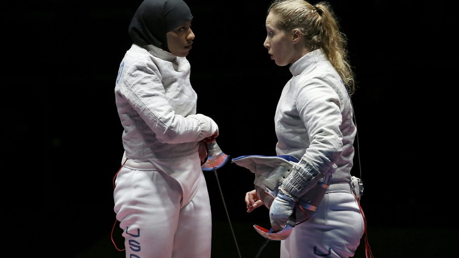 Ibtihaj Muhammad speaks with Irene Vecchi