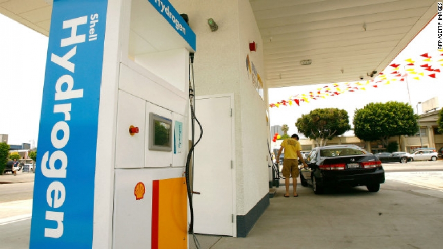 Hydrogen fuel cell filling station