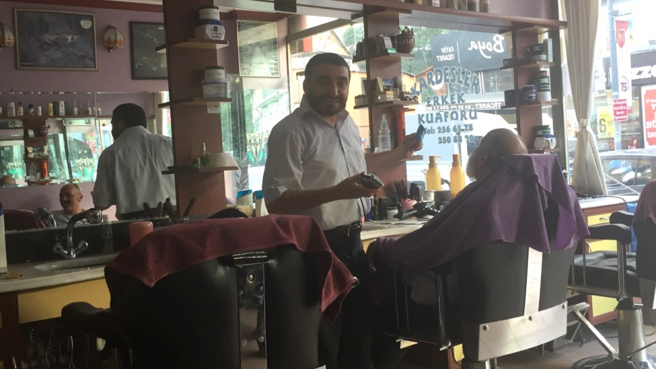 Barber Yasar Ayhan has been cutting Turkish President Recep Tayyip Erdogan's hair for years.