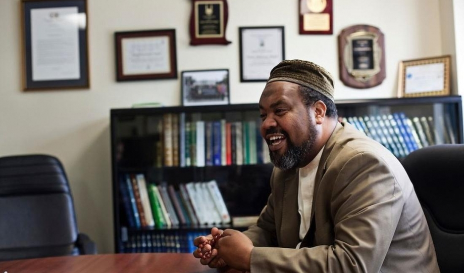 Mohamed Magid of the All Dulles Area Muslim Society in Virginia counsels youth who are being wooed by violent extremists.