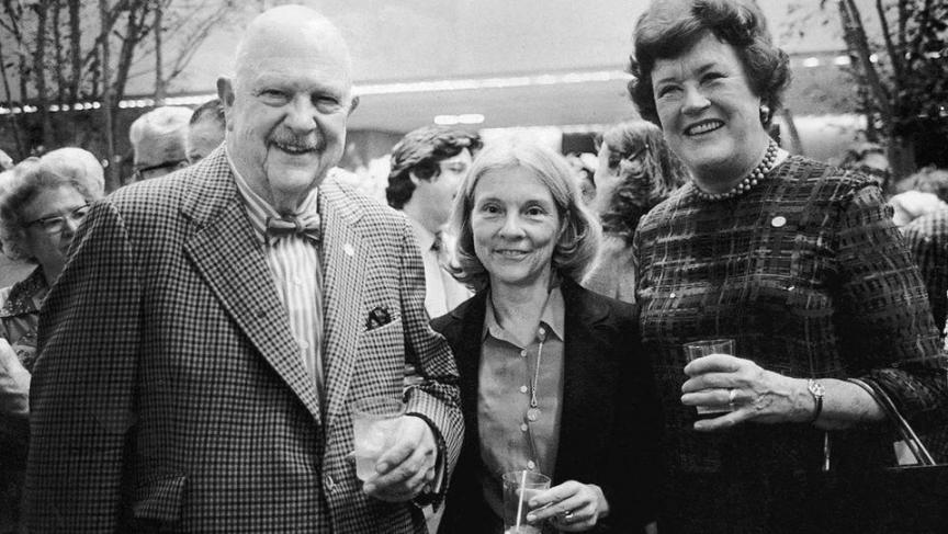 James Beard and Julia Child with food editor Judith Jones (center).