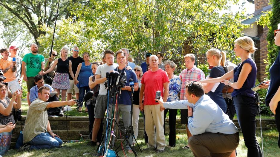 Don Damond speaks to the media about his fiancée Justine Damond