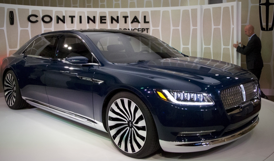Ford Motor Co. unveils the Lincoln Continental concept car at an event ahead of the New York International Auto Show in New York on March 30, 2015. Ford Motor Co will resurrect the Lincoln Continental as its top-of-the line luxury sedan, betting the class
