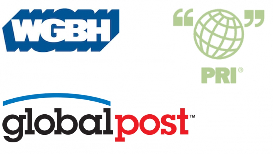 the logos for WGBH, GlobalPost and PRI.