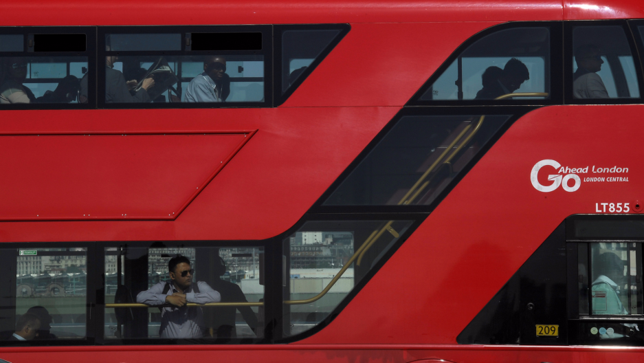 A bus in London.