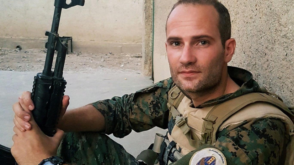 Macer Gifford, a British volunteer who joined the Kurds in the fight against ISIS in Syria.