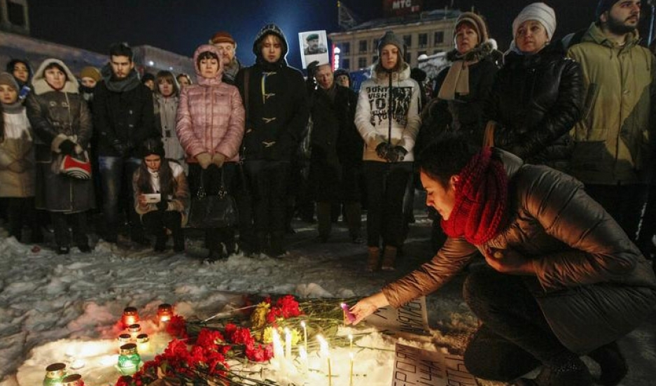 Vigil for those who died in eastern Ukraine
