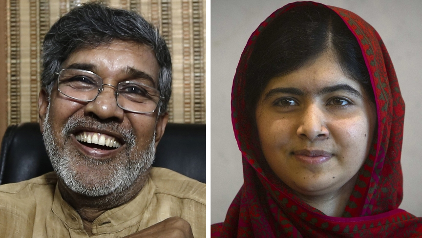 Malala Yousafzai, who was shot in the head by the Taliban in 2012 for advocating girls' rights to education, and Kailash Satyarthi won the 2014 Nobel Peace Prize on Friday.