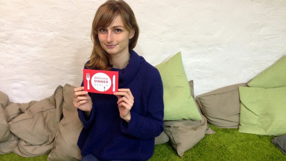 "Mandy Seidler helped create ""Welcome Dinner Berlin"", a project to bring together Berliners and newly arrived refugees."