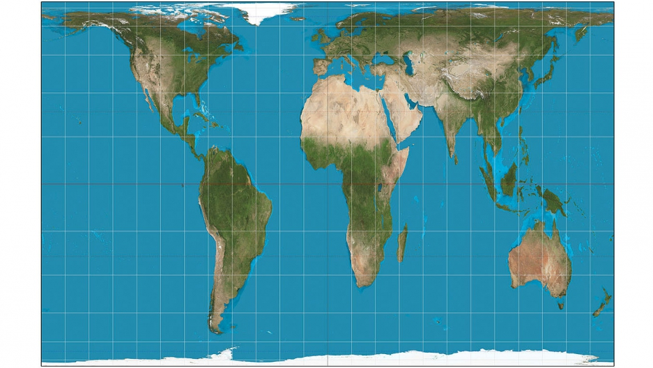 Bostons public schools have adopted a new more accurate world the world filtered through the gallpeters projection is pictured here its gumiabroncs Choice Image
