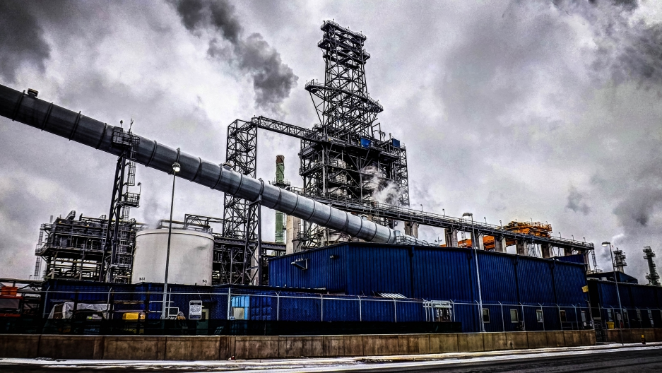 Marathon Oil Refinery in Detroit